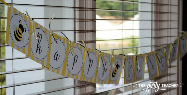 Bee Party by The Party Teacher - Bee Banner