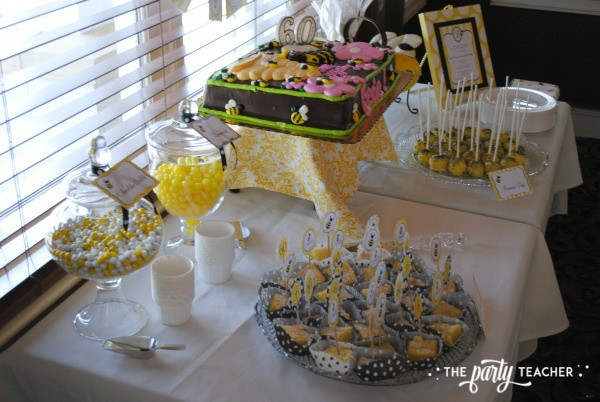 Bee Party by The Party Teacher - Dessert Table