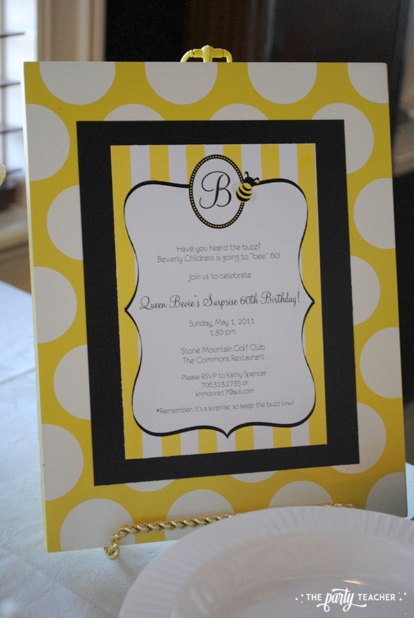 Bee Party by The Party Teacher - Invitation
