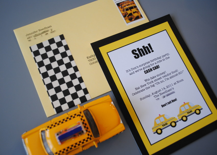 Cash Cab party invitation by The Party Teacher