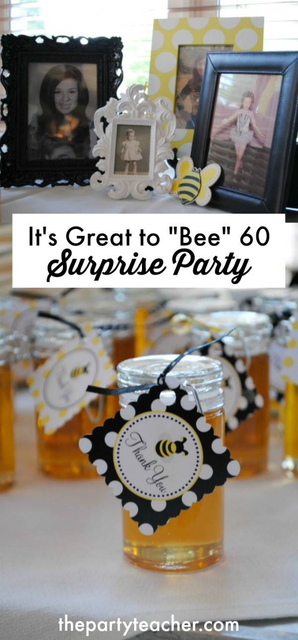 It's Great to Bee 60 Surprise Birthday Party by The Party Teacher