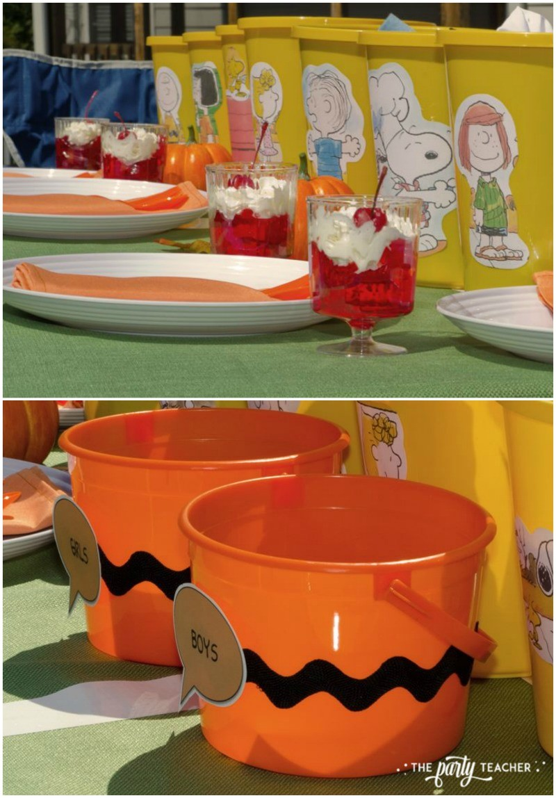 Charlie Brown Thanksgiving Party by The Party Teacher-dining table 2