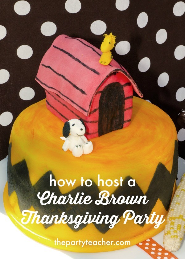How to host a Charlie Brown Thanksgiving Party by The Party Teacher