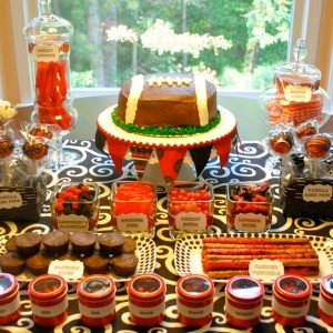 My Parties: UGA Opening Game Dessert Table
