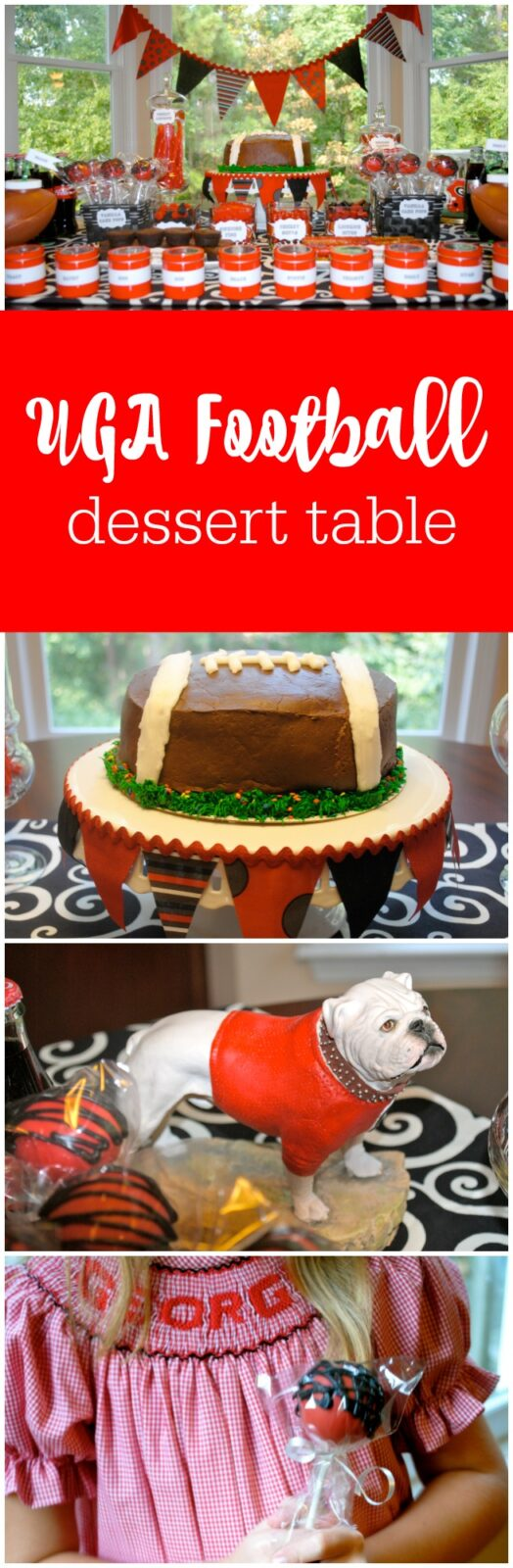 UGA Football Dessert Table by The Party Teacher-1