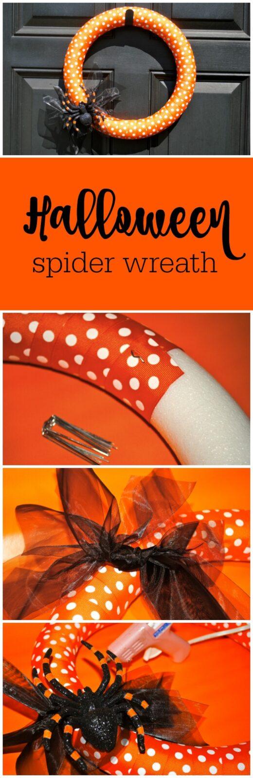 Halloween spider wreath by The Party Teacher