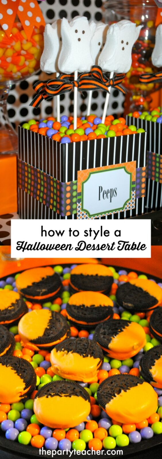 How to style a Halloween Dessert Table by The Party Teacher