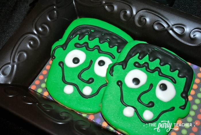 Sweet Not Spooky Halloween Party by The Party Teacher-Frankenstein cookies