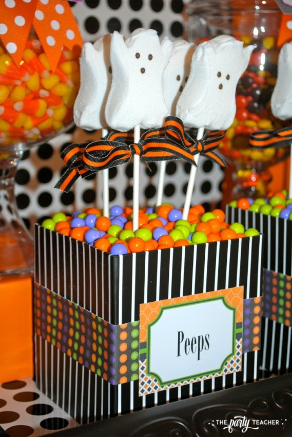 Sweet Not Spooky Halloween Party by The Party Teacher-Peeps 3
