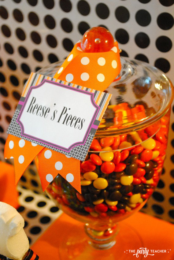 Sweet Not Spooky Halloween Party by The Party Teacher-Reese's Pieces