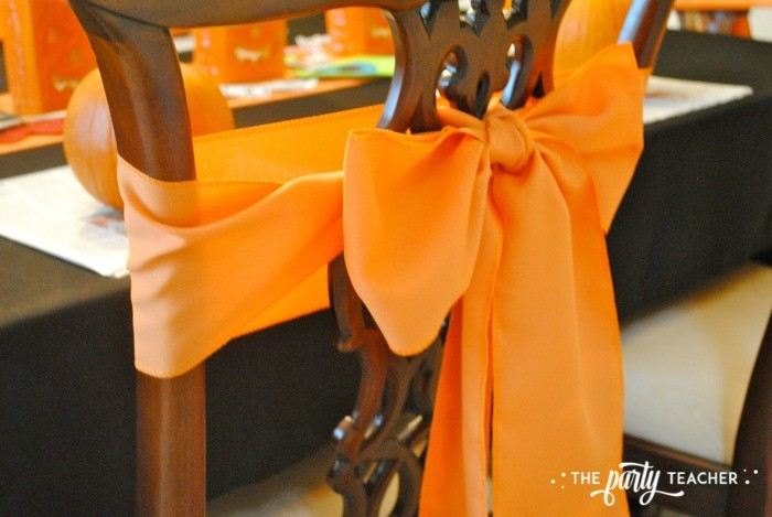 Sweet Not Spooky Halloween Party by The Party Teacher-chair tie