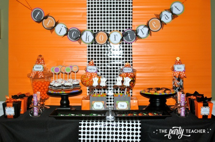 Sweet Not Spooky Halloween Party by The Party Teacher-dessert table 2