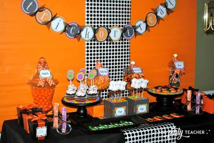 Sweet Not Spooky Halloween Party by The Party Teacher-dessert table