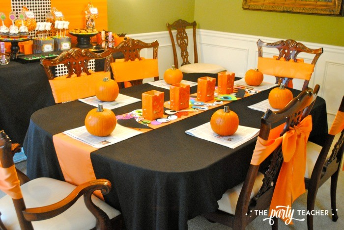 Sweet Not Spooky Halloween Party by The Party Teacher-dining table