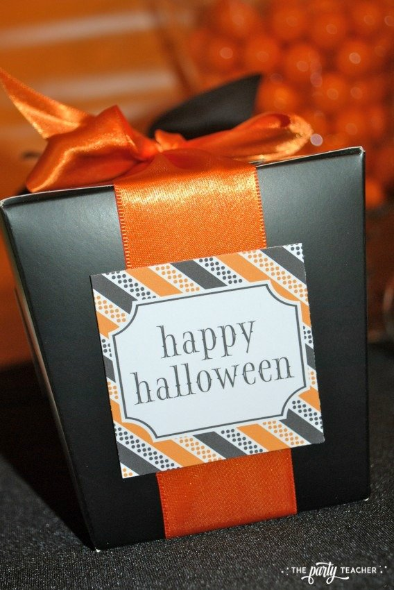 Sweet Not Spooky Halloween Party by The Party Teacher-party favor boxes