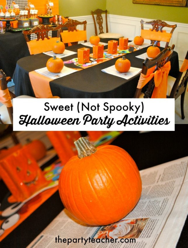 Sweet not spooky Halloween party activities by The Party Teacher