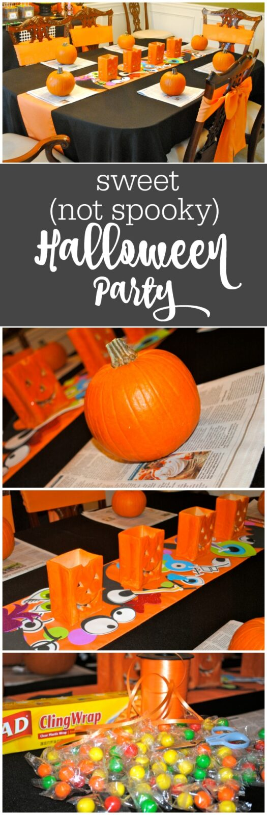 Sweet - not spooky - Halloween party by The Party Teacher