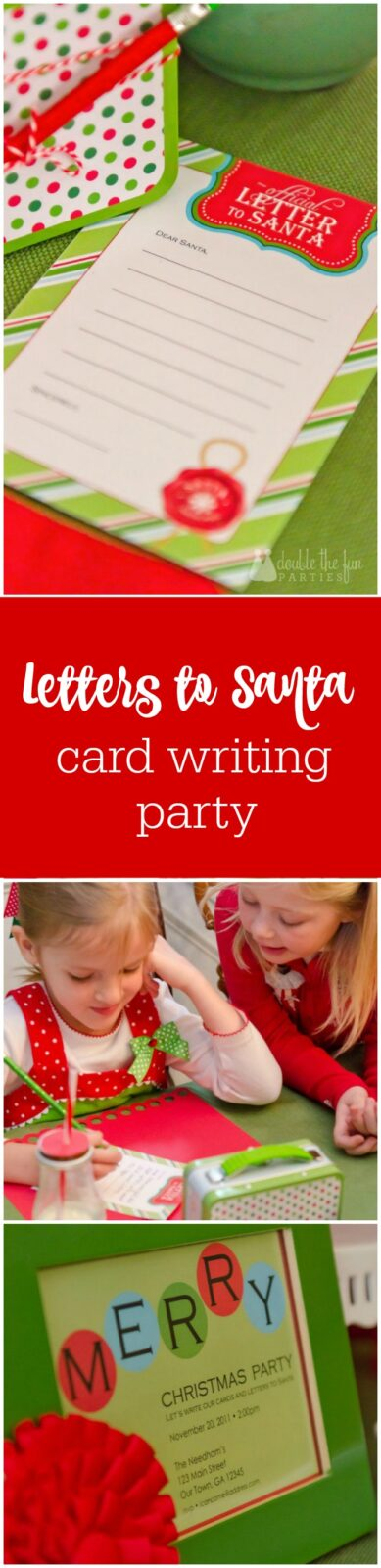 Letters to Santa Christmas card writing party by The Party Teacher