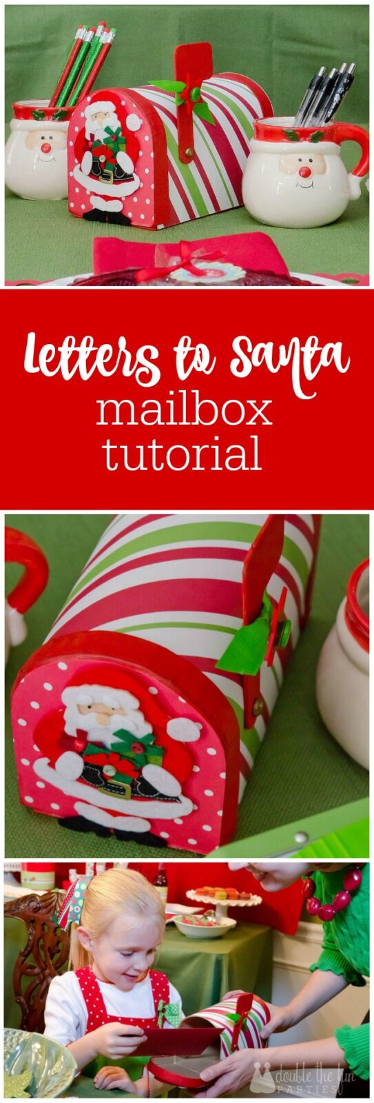 Letters to Santa DIY mailbox tutorial by The Party Teacher