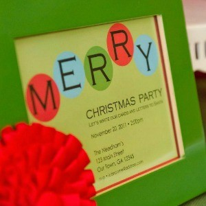My Parties: Letters to Santa Party