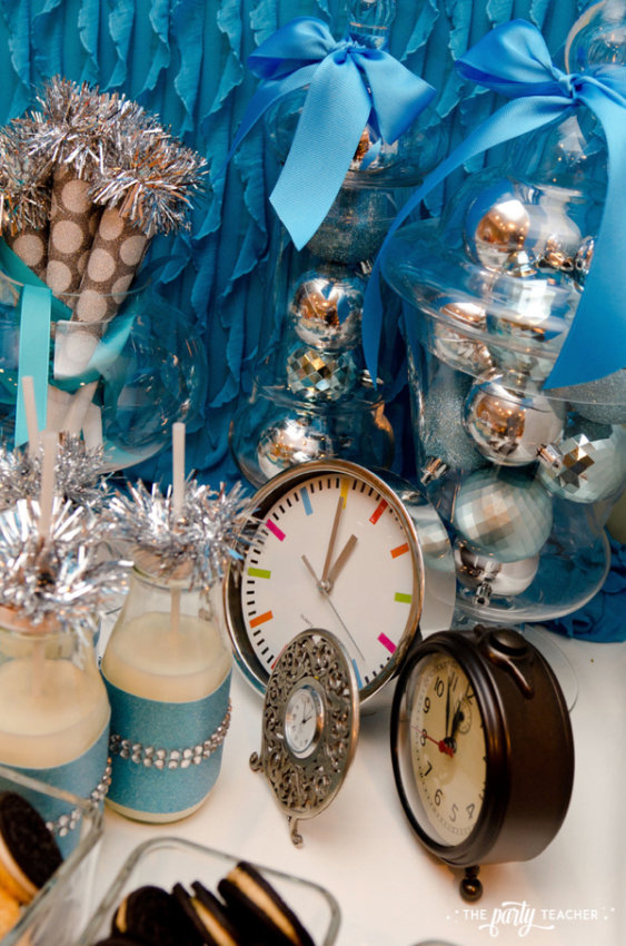 Budget Friendly New Years Eve Block Party by The Party Teacher - clocks and ornaments