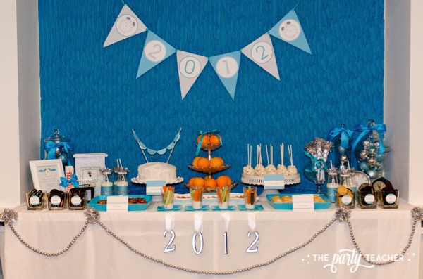 Budget Friendly New Years Eve Block Party by The Party Teacher - dessert table