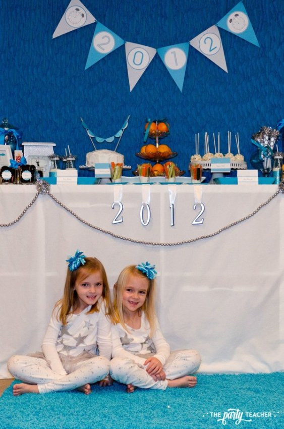 Budget Friendly New Years Eve Block Party by The Party Teacher - dessert table-v