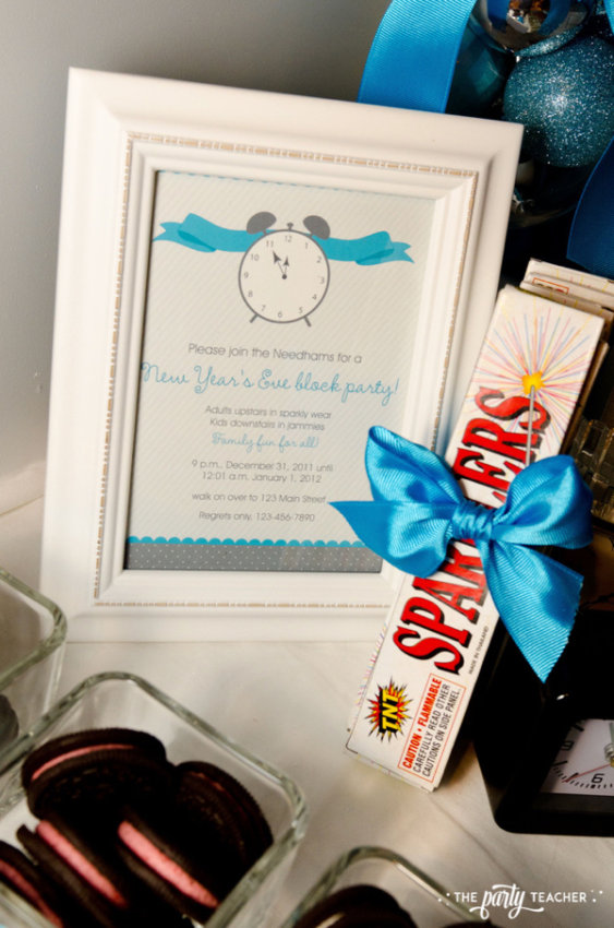 Budget Friendly New Years Eve Block Party by The Party Teacher - framed invitation