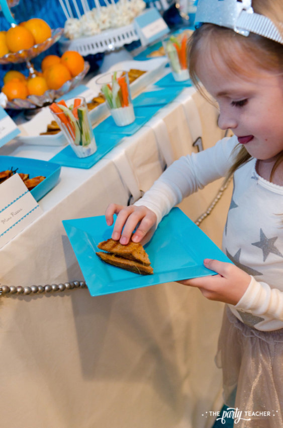 Budget Friendly New Years Eve Block Party by The Party Teacher - grilled apple cheese sandwiches