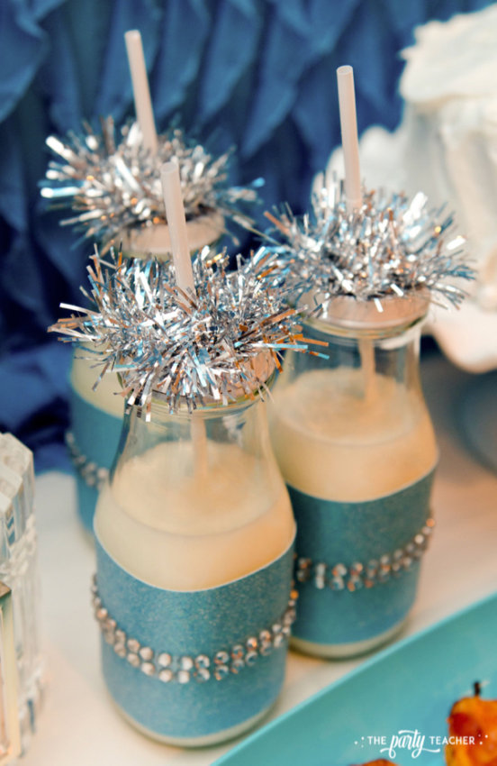 Budget Friendly New Years Eve Block Party by The Party Teacher - milk bottles