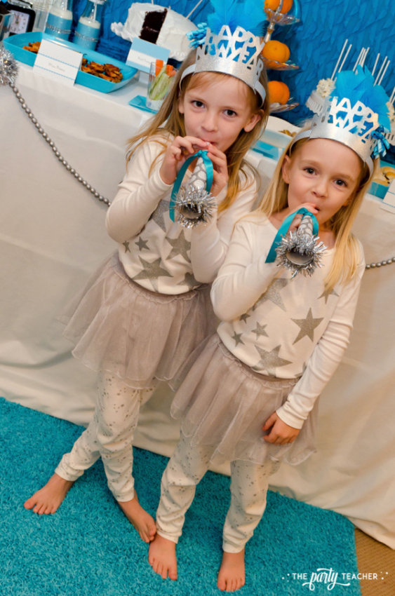 Budget Friendly New Years Eve Block Party by The Party Teacher - pjs and noisemakers