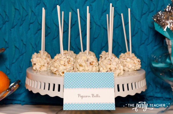 Budget Friendly New Years Eve Block Party by The Party Teacher - popcorn balls