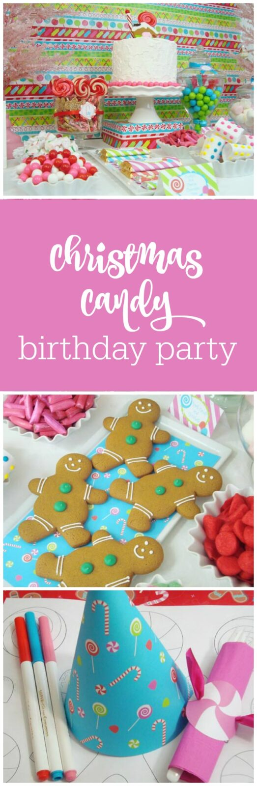 Christmas candy 4-year-old birthday party by We Love Crafty Tracey featured on The Party Teacher