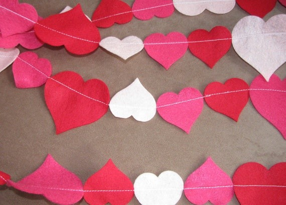 Empire of Six felt heart garland