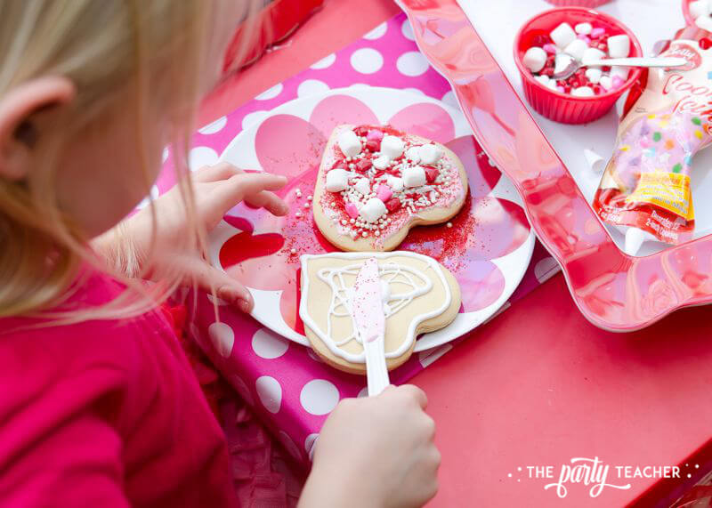 Valentine's Day Party by The Party Teacher - cookie decorating 3