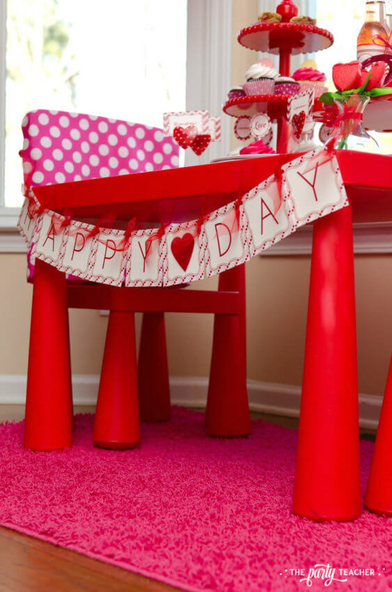 Valentine's Day Party by The Party Teacher - party table banner