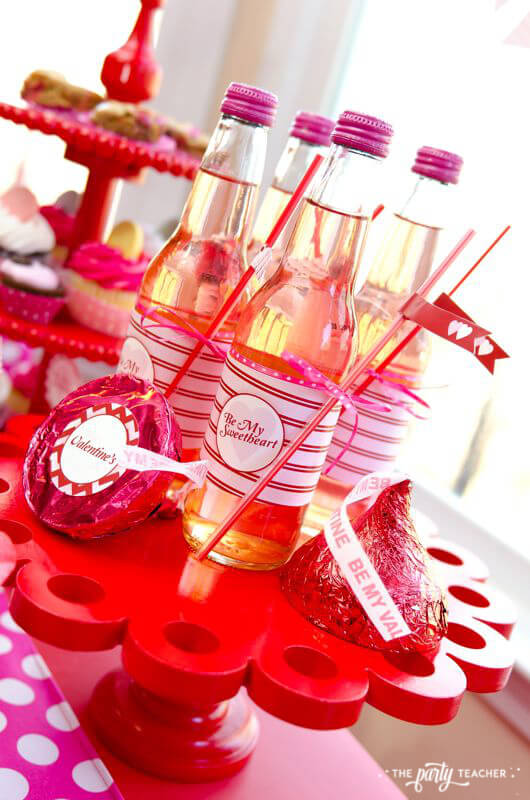 Valentine's Day Party by The Party Teacher - pink sodas