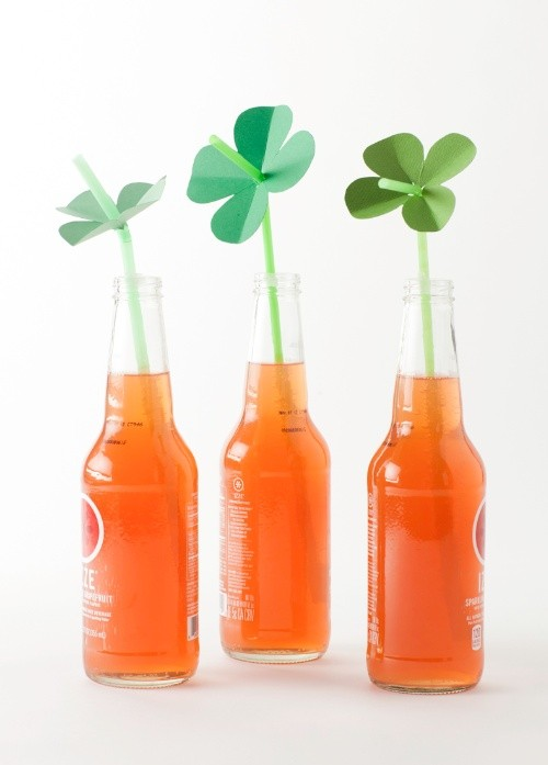 St Patrick's Day Shamrock Straws