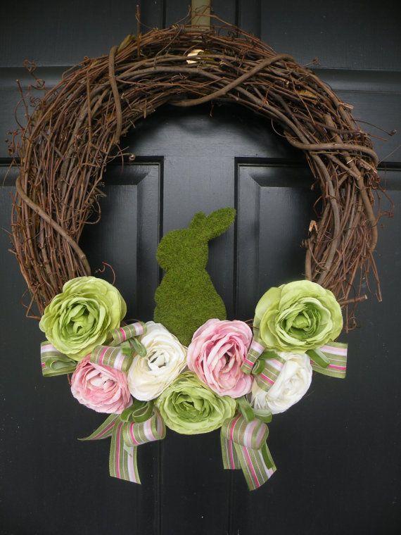 Easter Grapevine Wreath