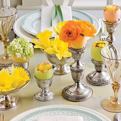 Easter candlesticks