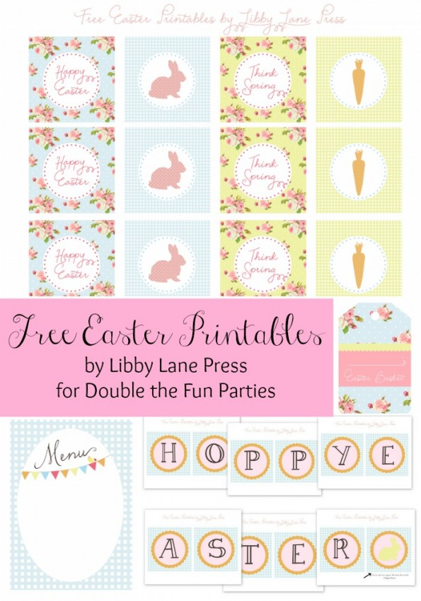 Free Easter Printables by Libby Lane Press for Double the Fun Parties