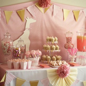 Guest Party: Pink Giraffe Baby Shower