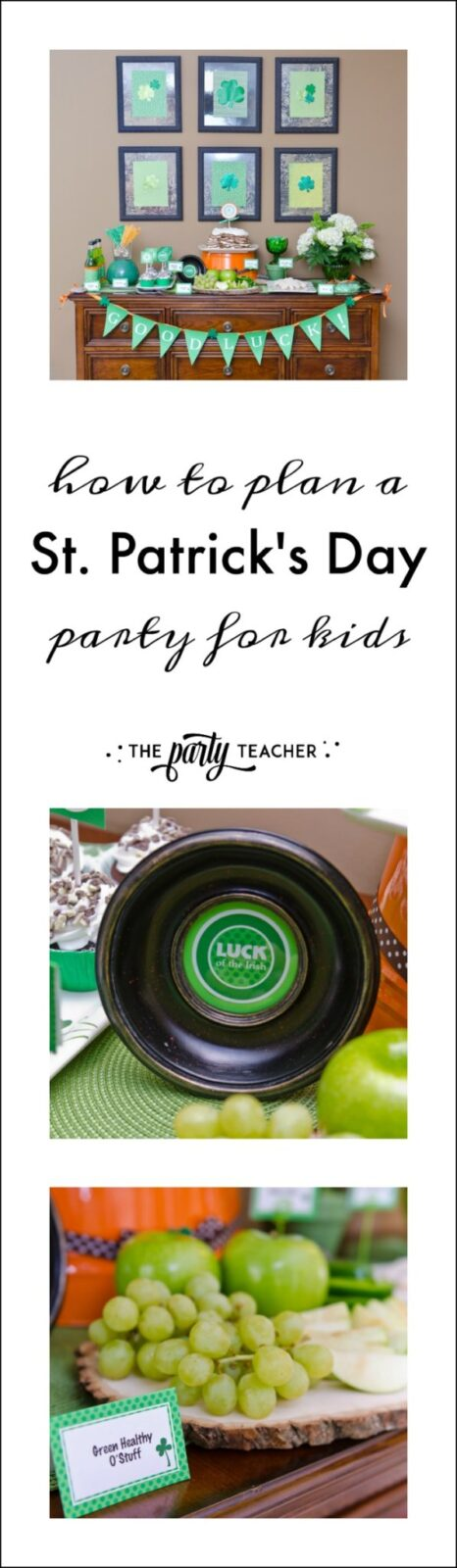 How to plan a St. Patrick's Day Party for kids by The Party Teacher