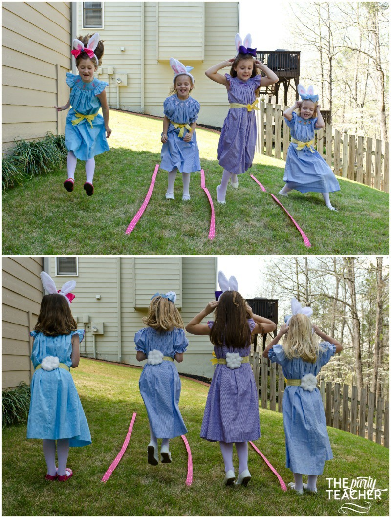 Shabby Chic Easter Party bunny hop by The Party Teacher