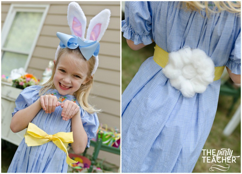 Shabby Chic Easter Party bunny tail by The Party Teacher