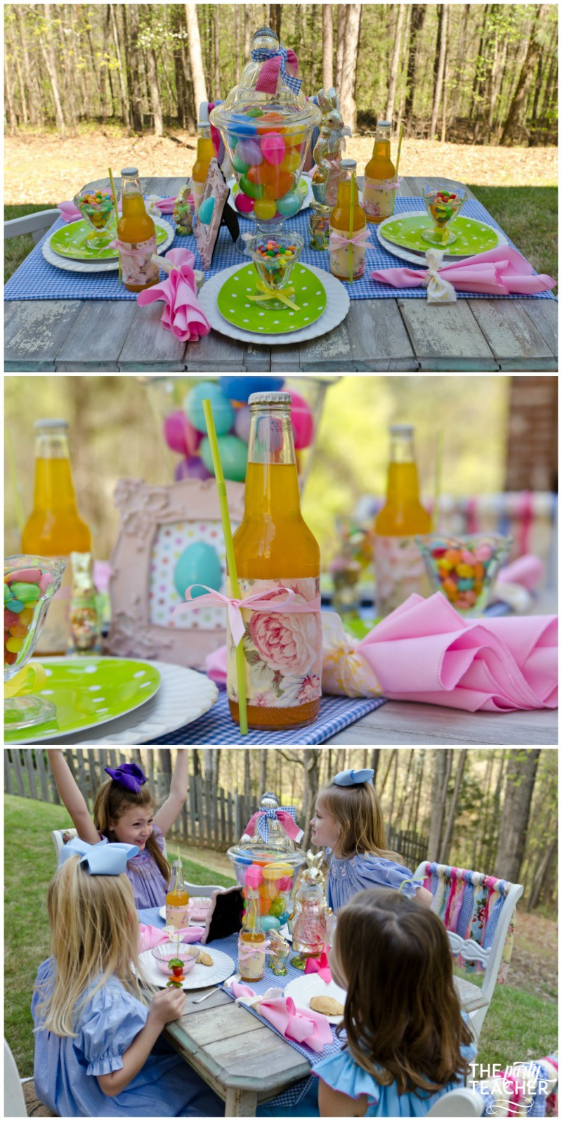 Shabby Chic Easter Party dining table-3 by The Party Teacher