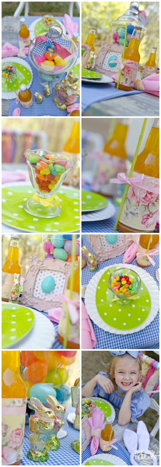 Shabby Chic Easter Party dining table-4 by The Party Teacher