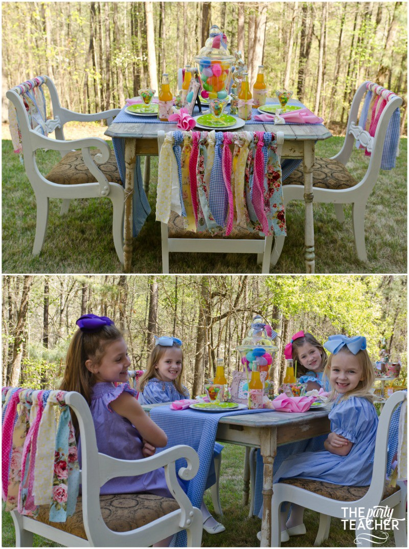 Shabby Chic Easter Party dining table by The Party Teacher