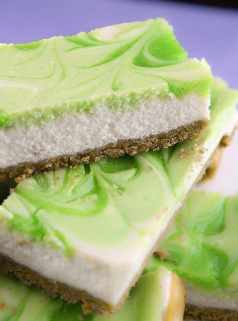 St. Patrick's Day Key Lime Bars