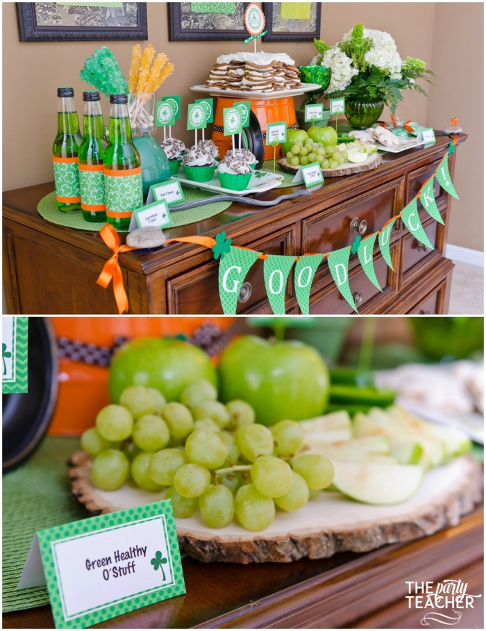 St. Patrick's Day Party for kids by The Party Teacher - dessert table 2
